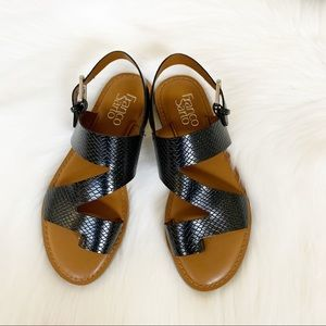 NEW FRANCO SARTO JAX Black Sandals